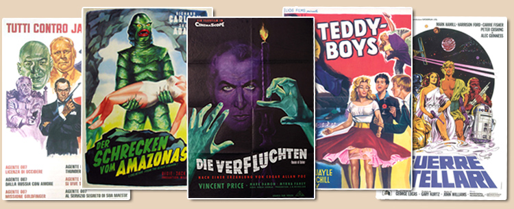 Original movieposters, lobbycards and more